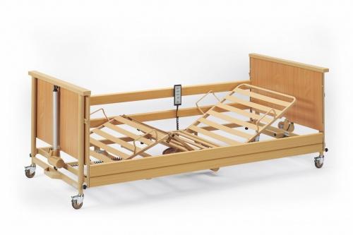 burmeier pflegebett dali low entry mit holzseitengitter sanit ts g nstig kaufen. Black Bedroom Furniture Sets. Home Design Ideas