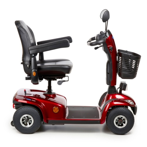original invacare elektromobil leo rot 6km h 4 rad scooter. Black Bedroom Furniture Sets. Home Design Ideas